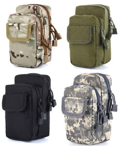 Men Military Tactical Belt Fanny Small Pack Bag Waist Pouch Pack Phone Pocket