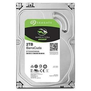 "Seagate ST2000DM008 Barracuda 3.5"" 2TB SATA 6Gb/s 7200RPM Internal Hard Drive"