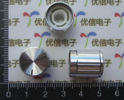 DZ409 15MM x 16.5MM aluminum alloy potentiometer knob silver ~1pcs~