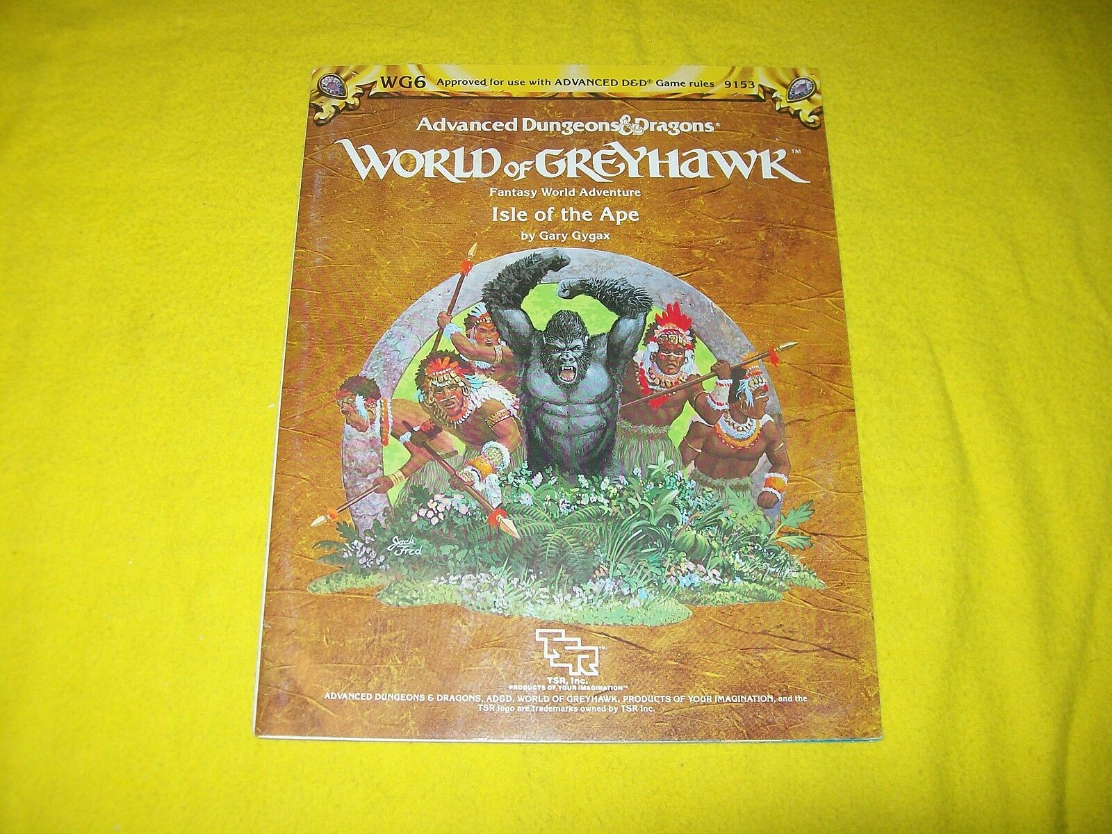 WG6 ISLE OF THE APE DUNGEONS & DRAGONS AD&D GREYHAWK TSR 9153 2 MODULE WITH MAP