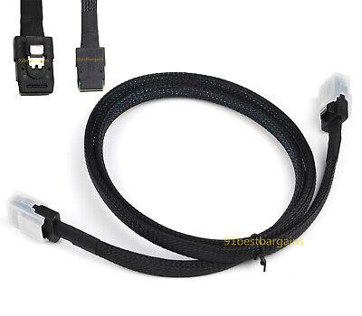 Amphenol Internal Mini SAS 36Pin SFF-8087 to SAS SFF-8643 Raid Data Server Cable