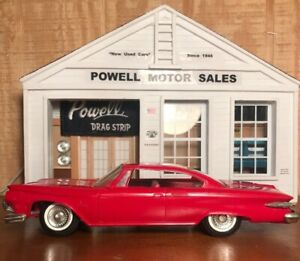 JOHAN-1961-PLYMOUTH-FURY-2-DR-SEDAN-RED-1-25-SCALE-PROMO-FRICTION-NO-BOX