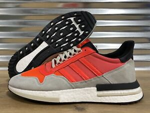 Adidas-Originals-Boost-ZX-500-RM-Running-Shoes-Solar-Red-Gray-White-SZ-DB2739