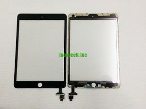 Black Glass Touch Screen Digitizer + IC Connector For iPad Mini 3 A1599 A1600