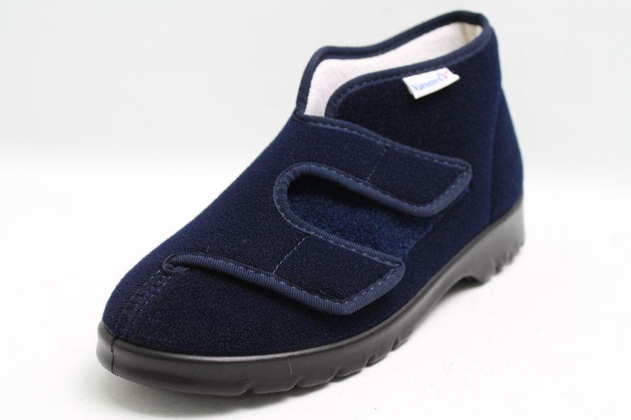 Cómodo y bien parecido Descuento por tiempo limitado Varomed Spezialschuhe blau Klettveloure Frotteefutter Cool-Max Weite H 1/2