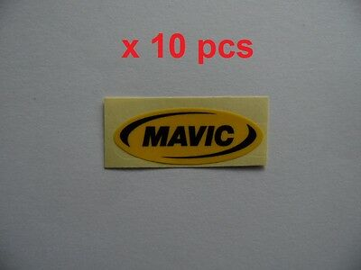 "Mavic 2/"" x 0.75/"" black letters on orange background die cut sticker x 10pcs"