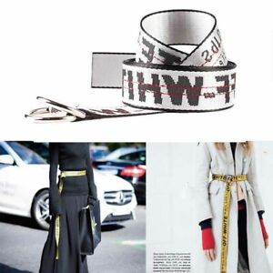 Unisex-Off-White-Yellow-Silver-Belt-Nylon-Vetements-Gosha-Rubchinskiy-140cm