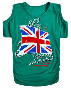 57ec6deb0aac9 Girls Cold Shoulder T-Shirt New Kids Union Jack Bat Wing Top Ages 3 ...
