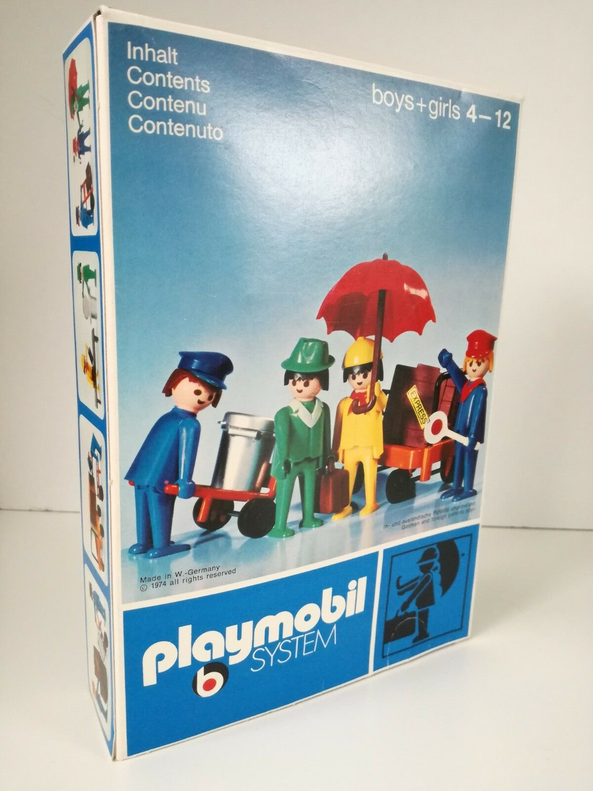 Playmobil 3271 v1 - Travellers   Travaller Set (OVP Klicky Dark Blau Box)