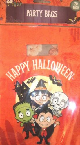 20 x HALLOWEEN Large Party Loot Treat Favour Bags trick or treat FREE P/&P HAPPY