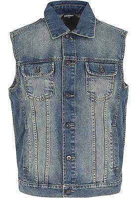 Inventivo Urban Classics Gilet Giacca Giubbotto Jeans Uomo Denim Vest Size 5xl