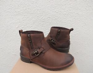 Details about UGG CHEYNE BROWN LEATHER SHEEPSKIN WATERPROOF ANKLE BOOTS, US 9 EUR 40 ~NIB