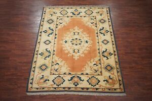 """8X10 Vintage Oushak Area Rug Hand-Knotted Oriental Wool Carpet (7'10"""" x 10'4"""")"""