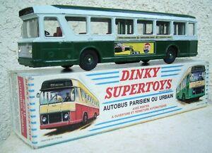 Autobus Parisien Dinky Toys 1.43e Métal Fabrication Années 60 Boite D'origine