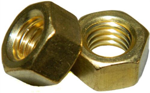 Solid Brass Machine Screw hex nuts 5//16-18 Qty 25