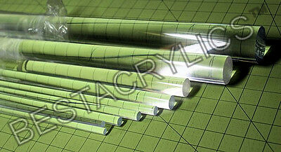 "14 Pcs COMBO 1//8/"" /& 1//4/"" x 12/"" LONG SQUARE CLEAR ACRYLIC PLEXIGLASS LUCITE RODS"
