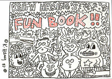 "Keith Haring ""Fun Book"" original handsigned colored marker drawing 1987 - COA"