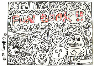 Keith-Haring-034-Fun-Book-034-original-handsigned-colored-marker-drawing-1987-COA