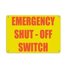 Horizontal Metal Sign Multiple Sizes Emergency Shut Off Switch B Hazard