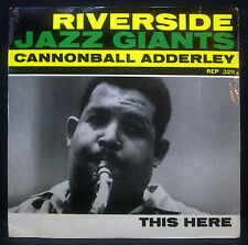 "7""-Single CANNONBALL ADDERLEY - this here, part 1 / 2"