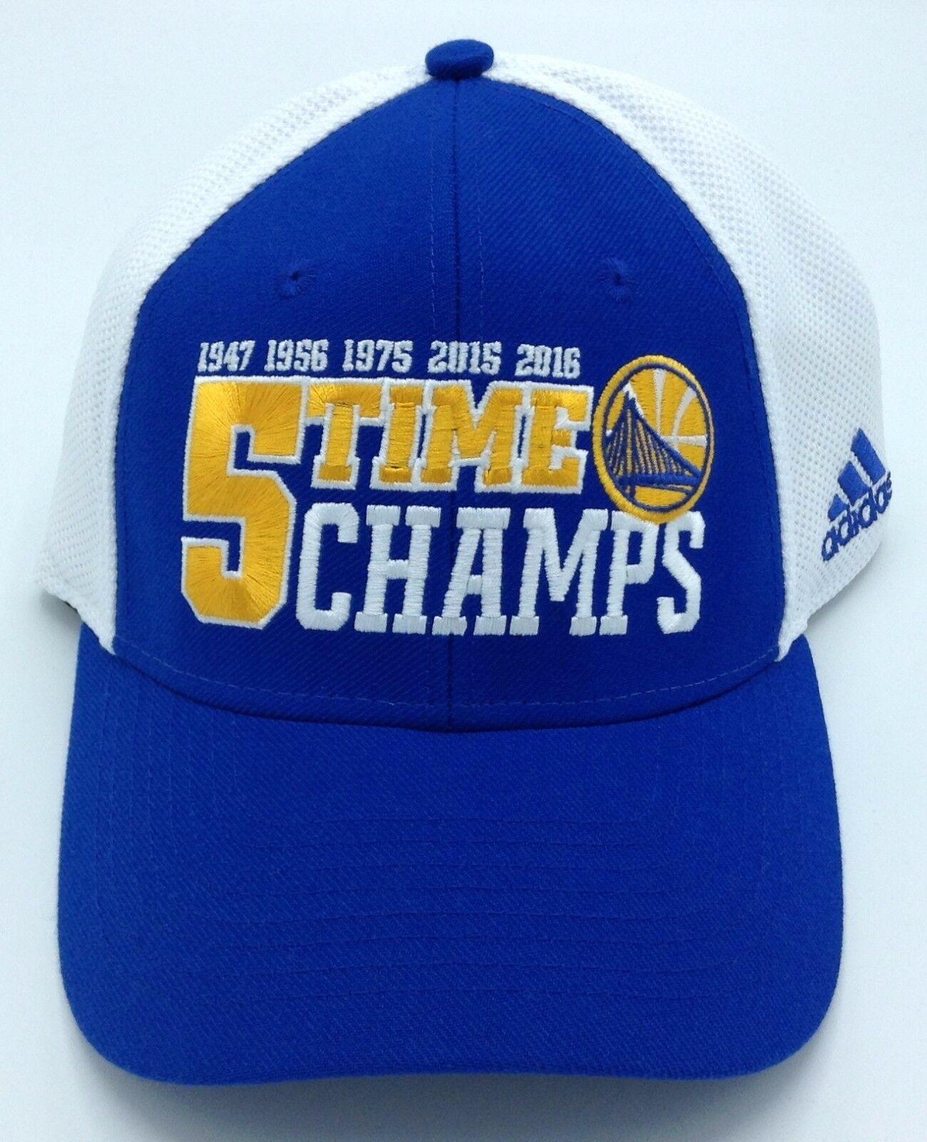 NBA Golden State Warriors Adidas Erwachsene 5x Championship Championship Championship Flex Fit Kappe Mütze ed7f0b