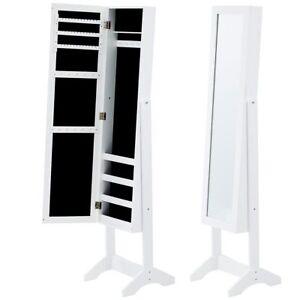 schminktisch schmuck kleiner schrank schmuck boxen spiegel mit t r gegenst nde ebay. Black Bedroom Furniture Sets. Home Design Ideas