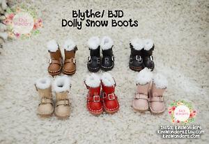 Zapatos-Para-Muneca-Blythe-Pullip-Azone-Momoko-Licca-Lindo-Suave-De-Cuero-Hecha-A-Mano