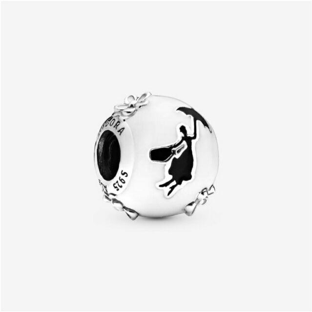 PANDORA Charm Disney Mary Poppins Silhouette 797510ENMX W Suede Pouch