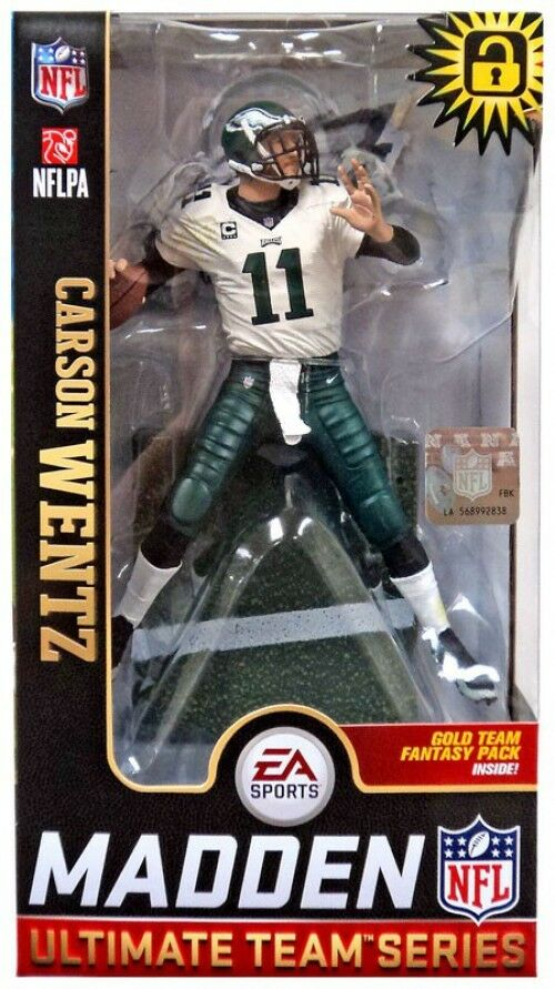 EA Sports Madden 19 Ultimate Team Series 1 Carson Wentz Action Figure