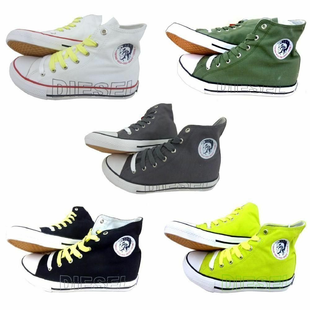 Nuevo Diesel Para Hombre de Diseñador Top Zapatos De Lona Zapatillas Casual alta botas Zapatillas