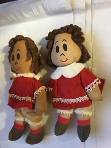 LOT-OF-TWO-DOLLS-Little-LuLu-Doll-7-Gund-Manufacturing-Co-Hong-Kong-Cloth