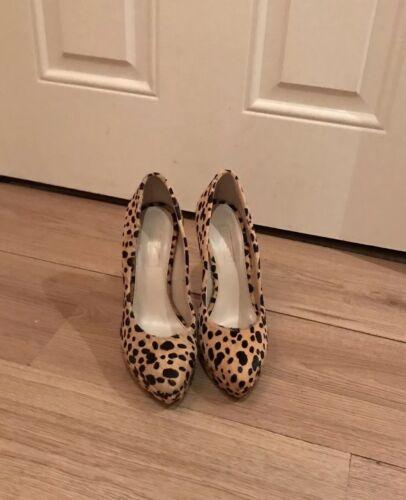 Print Leopard Pointed Shoes 5 Size Ladies Heel Platform High Topshop wfYBvTOf