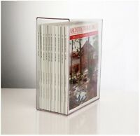 Acrylic Clear Magazine Holder, Store Magazines Vertically, Clean Clear Dust Free
