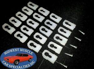 20 Gm Chevy Oldsmobile Pontiac Vinyl Top Molding Moulding Trim Clips Studs Bk Ebay