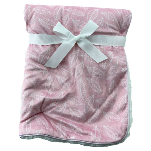 Newborn Soft Baby Blanket Crib Pram Cot Boys Girls Infant Cotton Fleece Fur Back