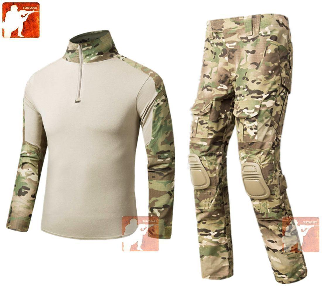 New MULTICAM Gen3 G3 Combat Frog Suit Set Shirt & Pants Military Airsoft Uniform
