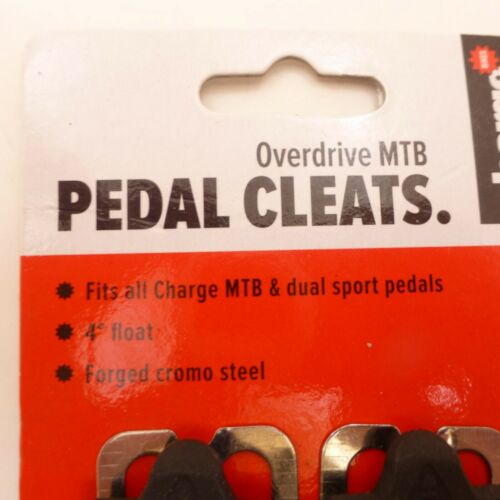 Details about  /charge Overdrive MTB Pedal Cleats 4 Degree Float Forged Chromo Steel Bicycle