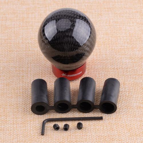 Kohlefaser Schaltknauf Schaltsack Knauf Ball Schwarz Universal Schalthebel Neu