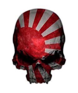 Japan Skull Decal Imperial Japanese Flag Sticker Graphic - Japanese flag