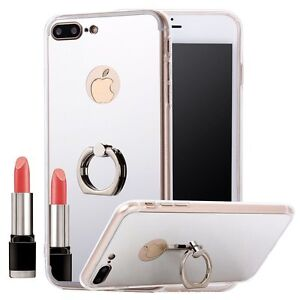 Apple-iPhone-5-5S-5SE-6-6S-7-Plus-Case-Bumper-Cover-with-Ring-Holder-Stand