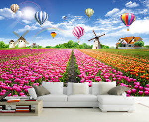 3D Field Flower 642 Wallpaper Murals Wall Print Wallpaper Mural AJ WALL AU Lemon