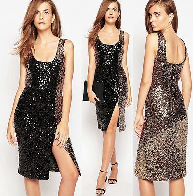 French Connection Womens Cosmic Sparkle Tank Dress