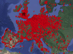 Lost-Places-Karte-Urbex-Map-Europa-12500-Koordinaten-034-LIMITIERT-034-Sonderpreis