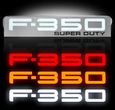 Ford Super duty F350 LED Lighted Fender Emblems 2008,2009,2010 By Recon CHROME