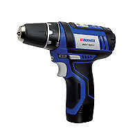 BERNER 10.8V 2.0Ah Cordless Drill Driver with 2 Batteries and Case