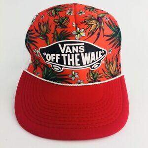 Vintage Vans Off The Wall Otto Hawaiian Floral Snapback Trucker Hat ... 52dd1a76262