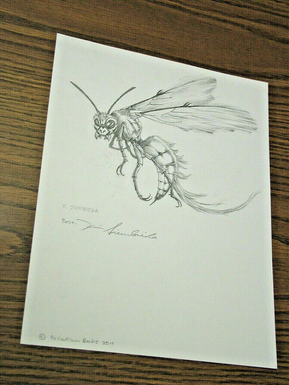 Kevin Siembieda arte original de divisiones Bestiario-Dragon Wasp 2019