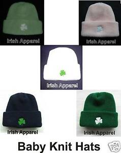 Irish Shamrock Baby Hat Kelly White Navy Mint Pink