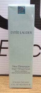 NIB-Estee-Lauder-New-Dimension-Shape-Fill-Expert-Serum-1-7oz-Wrinkles-V50