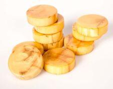"VINTAGE LOT 10 CATALIN BACKGAMMON Marbleize Yellow 1 3/8"" (35mm) By Bakelite"